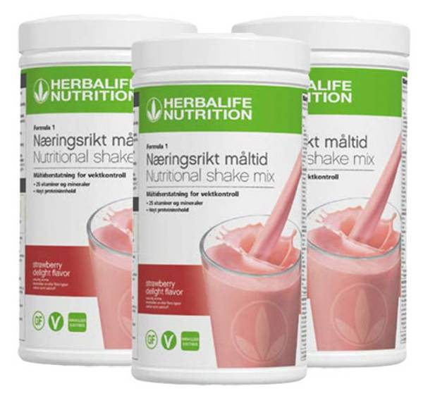 Herbalife Formula 1 Shake - 3 bokser i samme smak